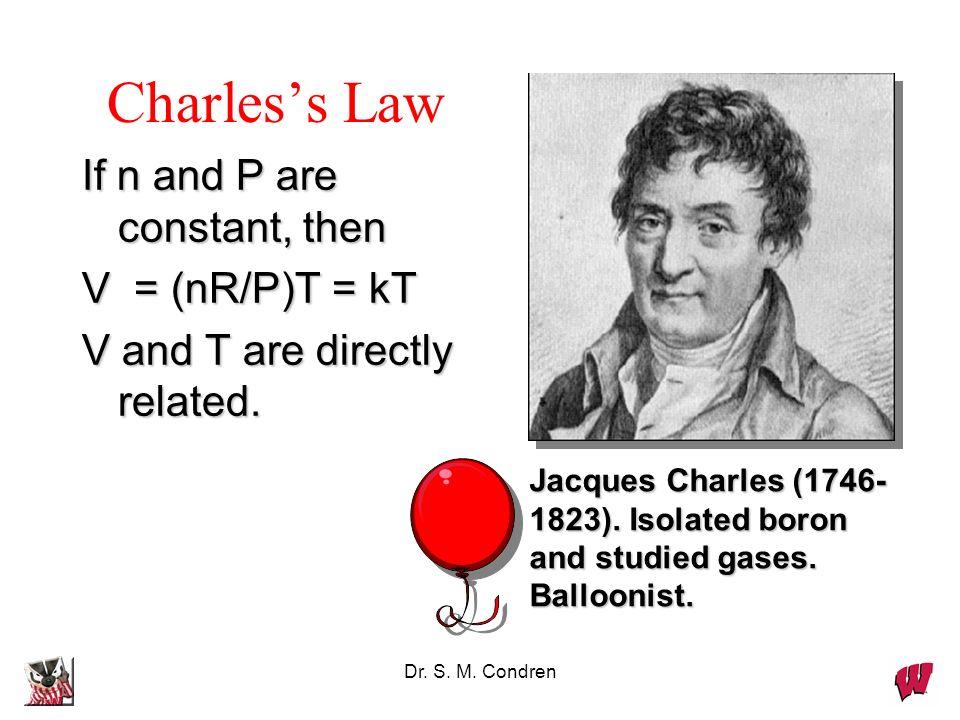 Dr. S. M. Condren Boyles Law