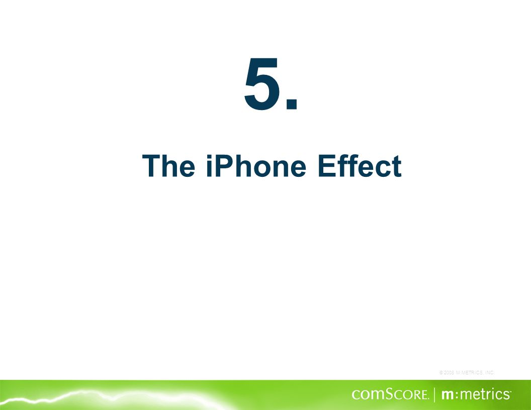 © 2008 M:METRICS, INC. 5. The iPhone Effect