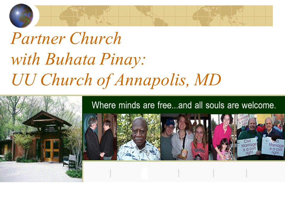 Partner Church with Buhata Pinay: UU Church of Annapolis, MD