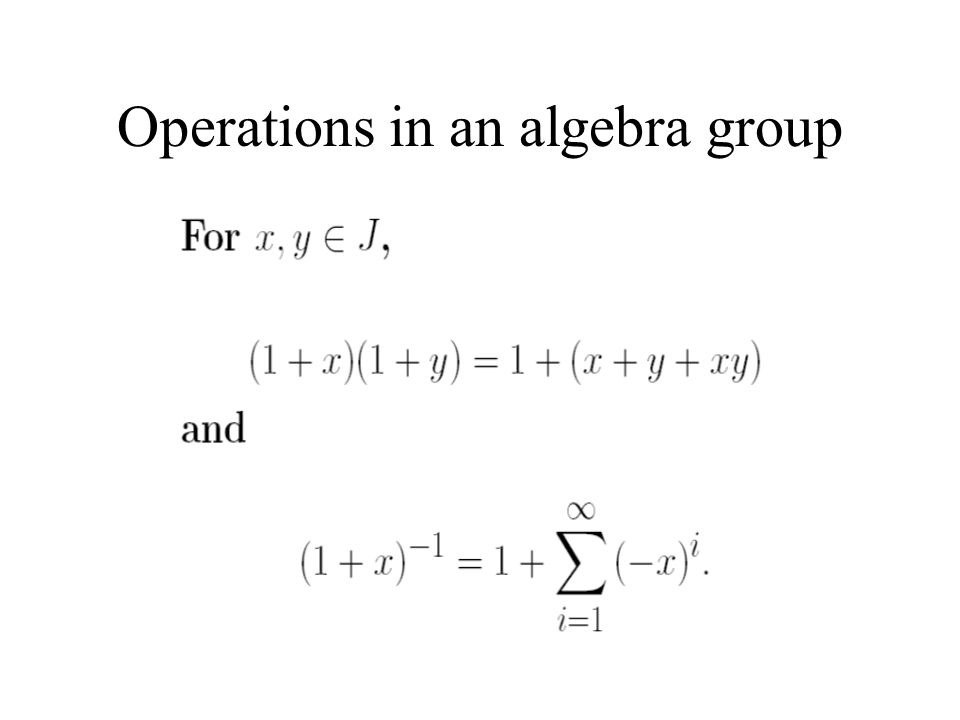 Operations in an algebra group