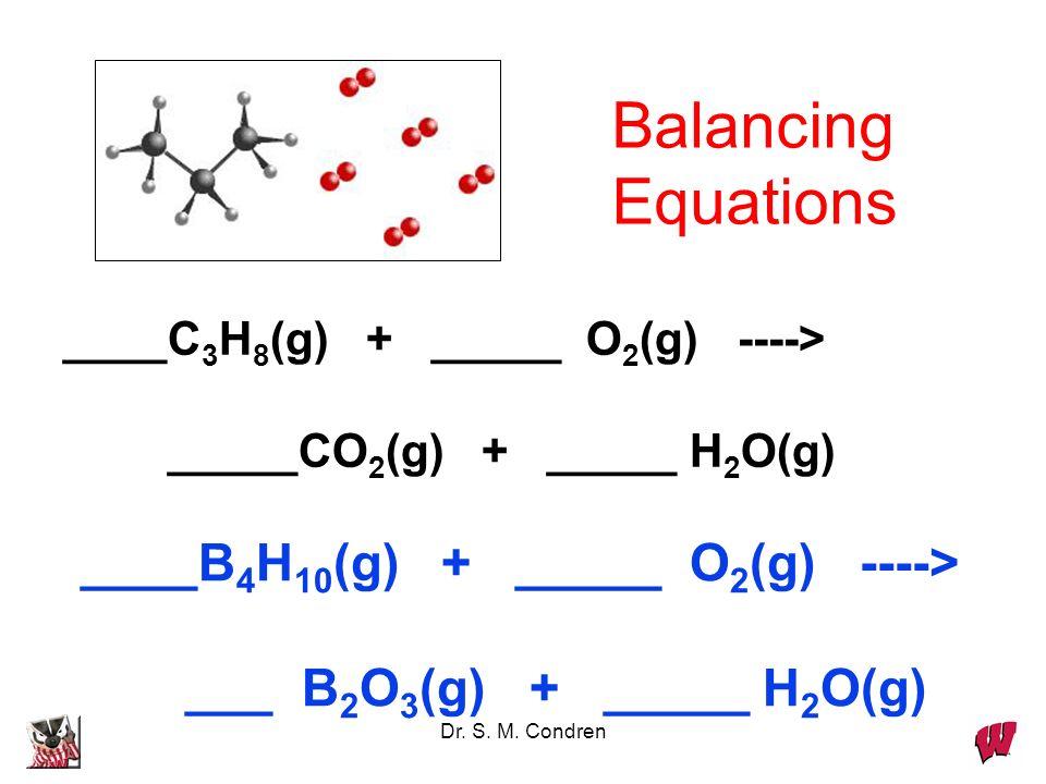 Dr. S. M. Condren ___ Al(s) + ___ Br 2 (liq) ---> ___ Al 2 Br 6 (s) Balancing Equations
