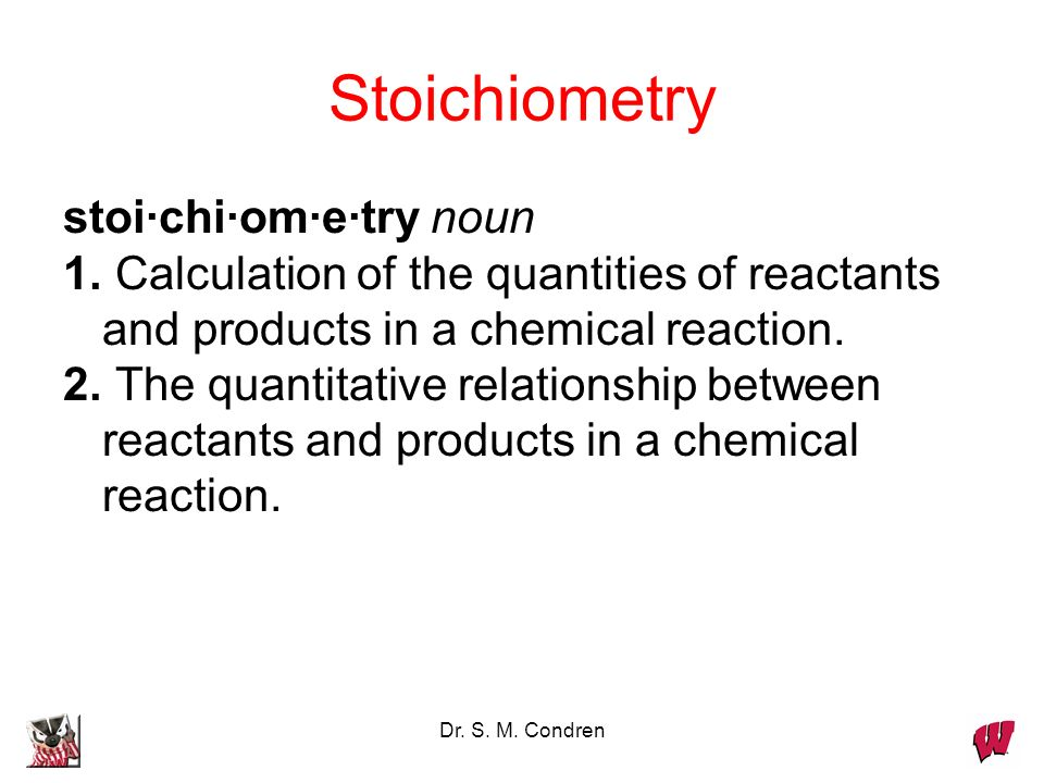 Dr. S. M. Condren The Mole and Chemical Reactions: The Nano-Macro Connection 2 H 2 + O 2 -----> 2 H 2 O 2 H 2 molecules 1 O 2 molecule 2 H 2 O molecul