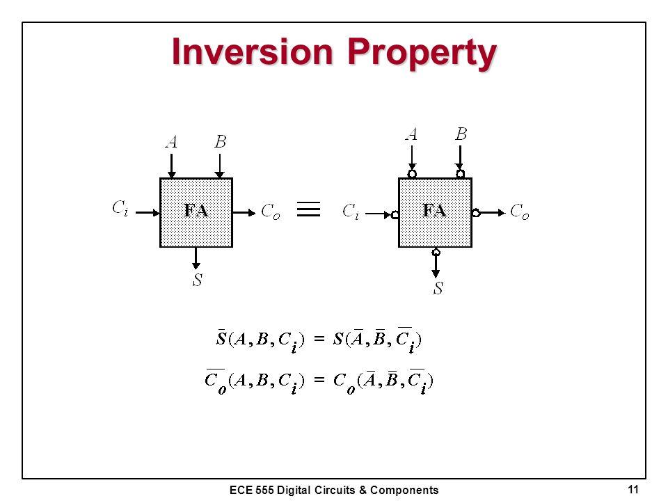 ECE 555 Digital Circuits & Components Inversion Property 11