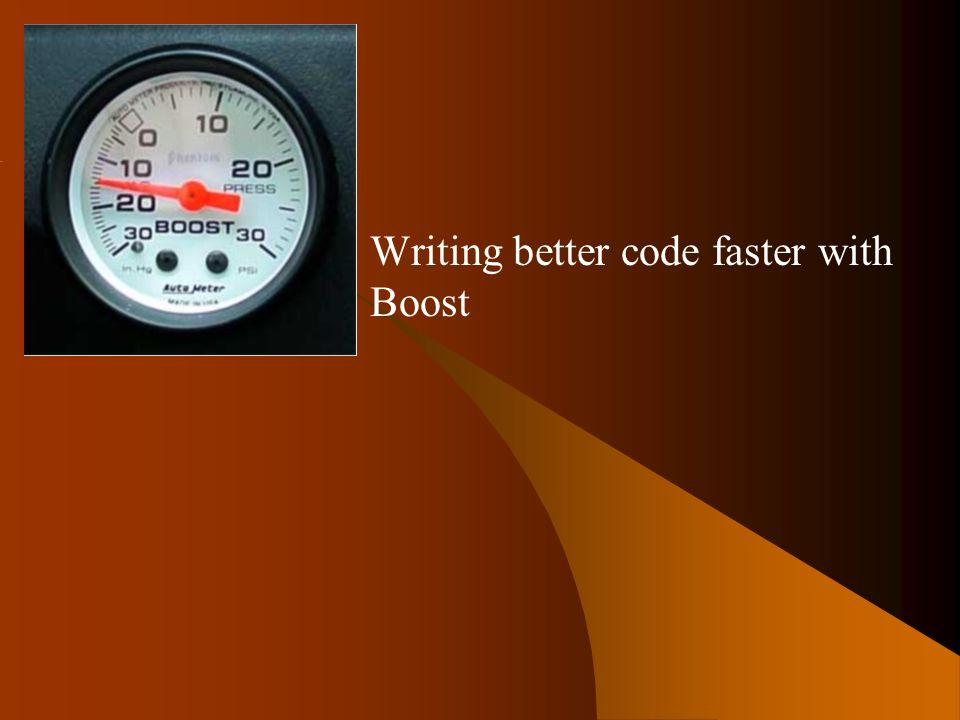 Boost Writing better code faster with Boost