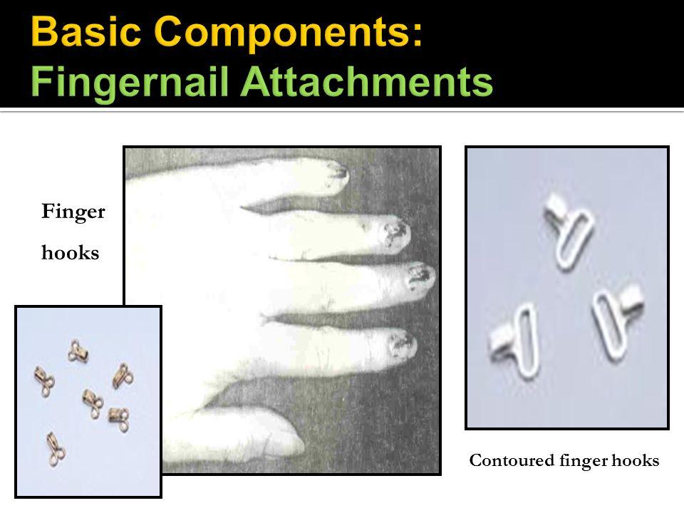 Finger hooks Contoured finger hooks
