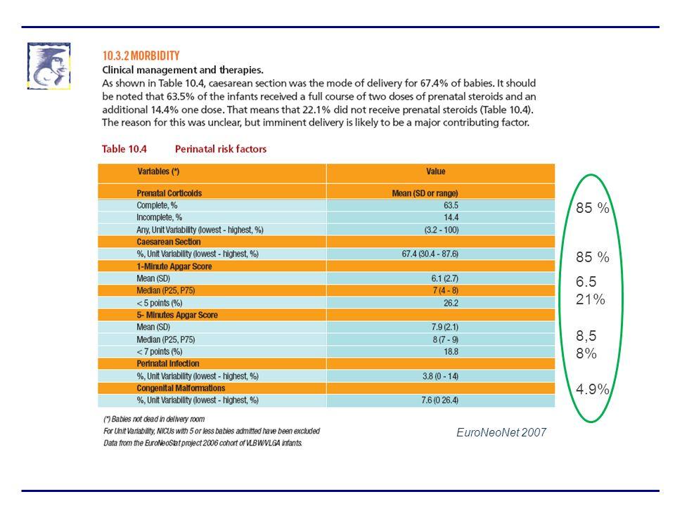 85 % 6.5 21% 8,5 8% 4.9% EuroNeoNet 2007