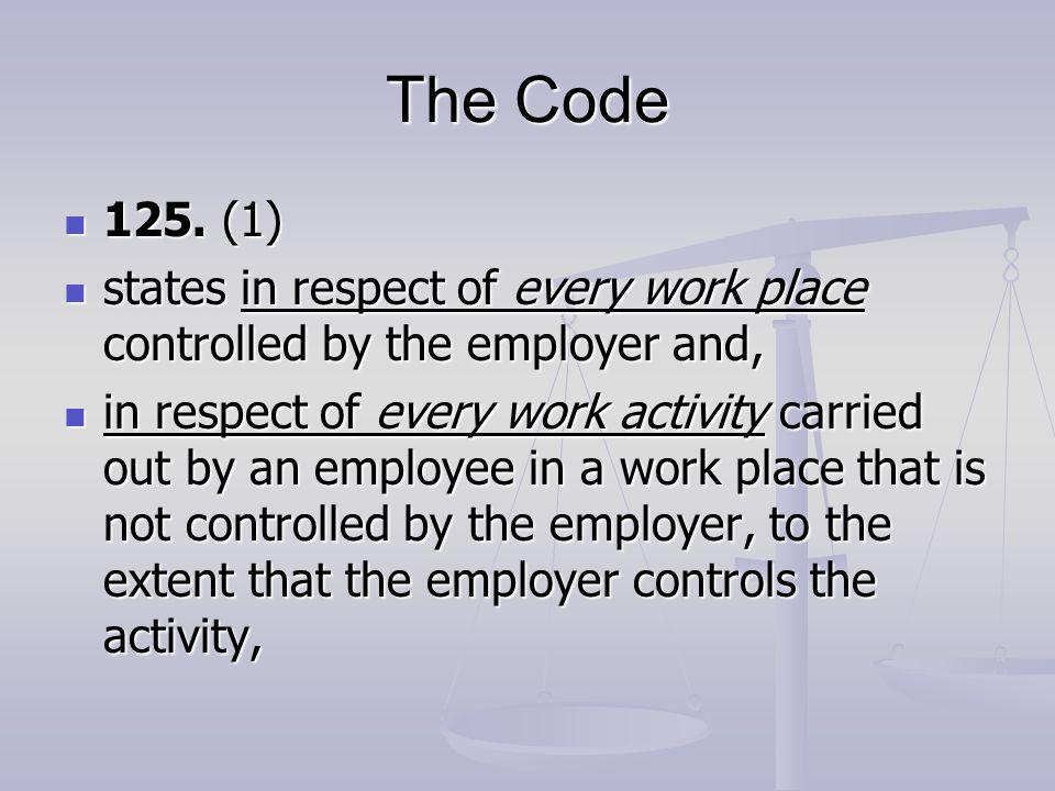 The Code 125. (1) 125.