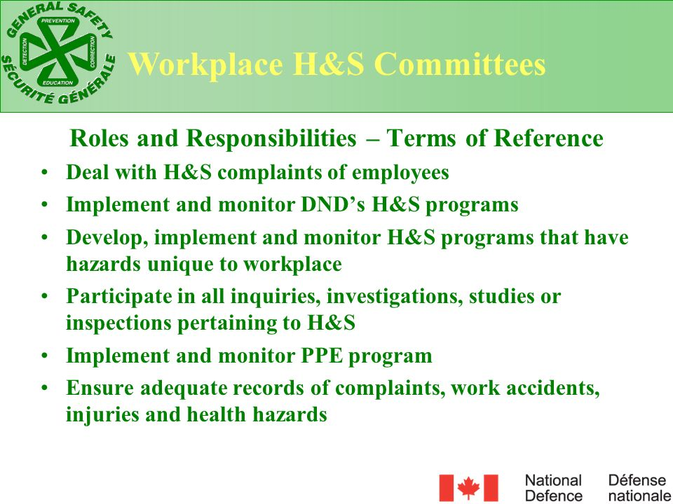 Membership Management Representative Union Representatives RTW Program Advisor/GSO Human Resource Officer Units HR Business Manager OR Assign RTW Duties: 1.Workplace Health and Safety Committee 2.Injury on Duty Leave Committee 3.Employee Assistance Program Local RTW Committees