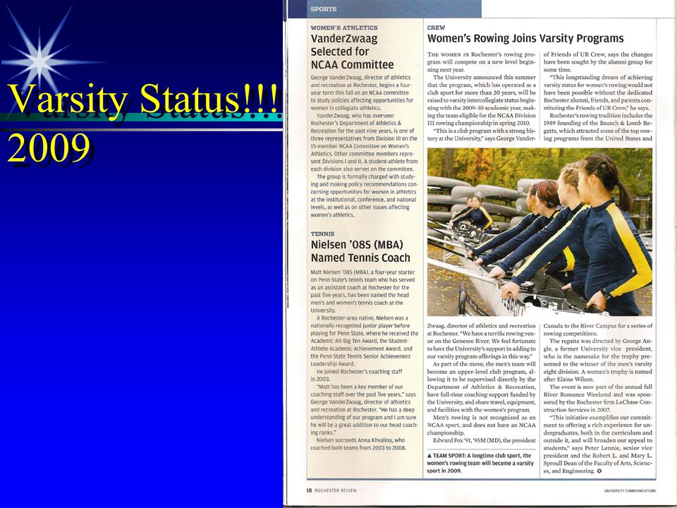 Varsity Status!!!! 2009