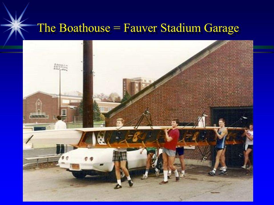 The Boathouse = Fauver Stadium Garage