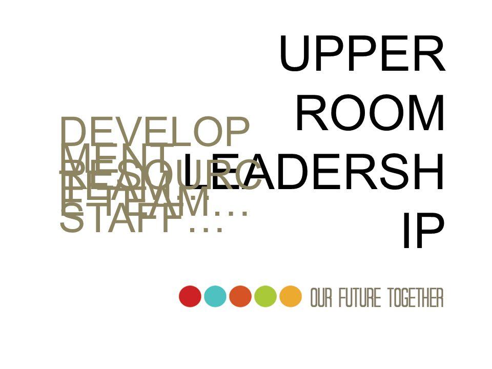 UPPER ROOM LEADERSH IP DEVELOP MENT TEAM… RESOURC E TEAM… STAFF…