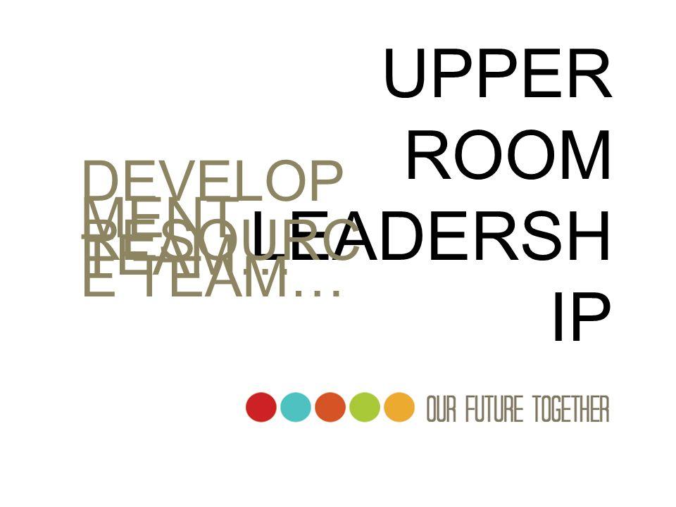 UPPER ROOM LEADERSH IP DEVELOP MENT TEAM… RESOURC E TEAM…