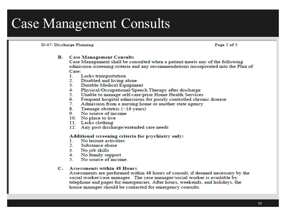 Case Management Consults 82