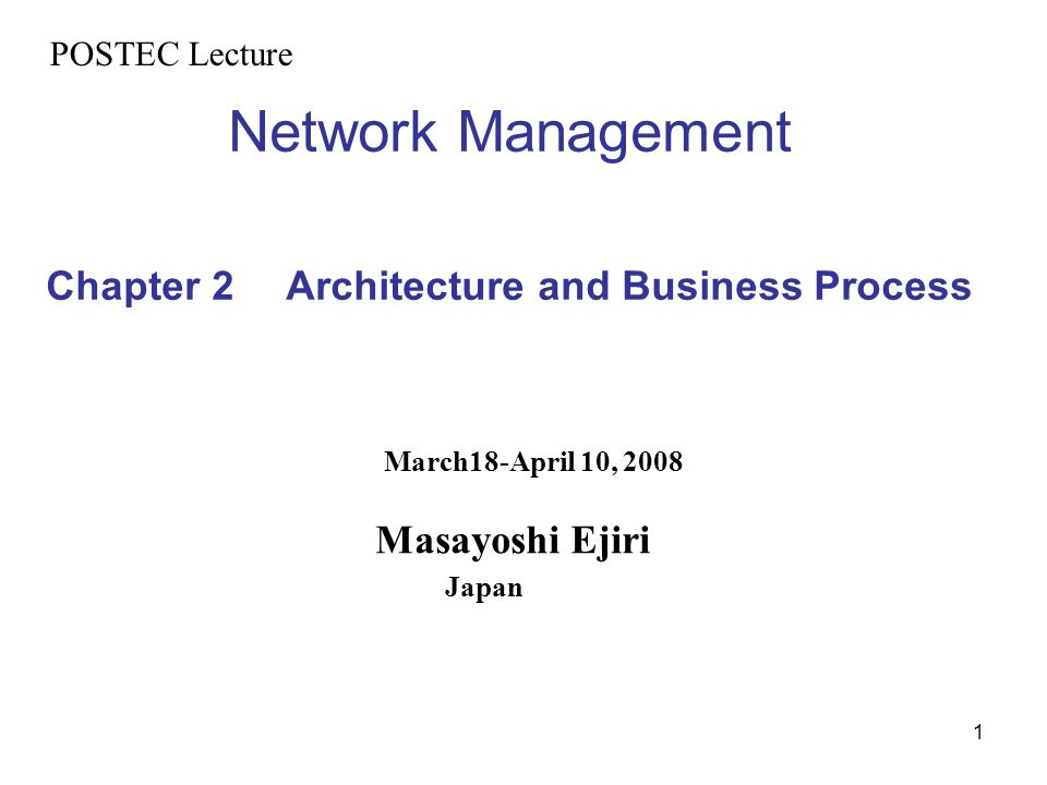 52 TMN Information Architecture Exchange management information between managing and managed systems on standardized open management paradigm, e.g.