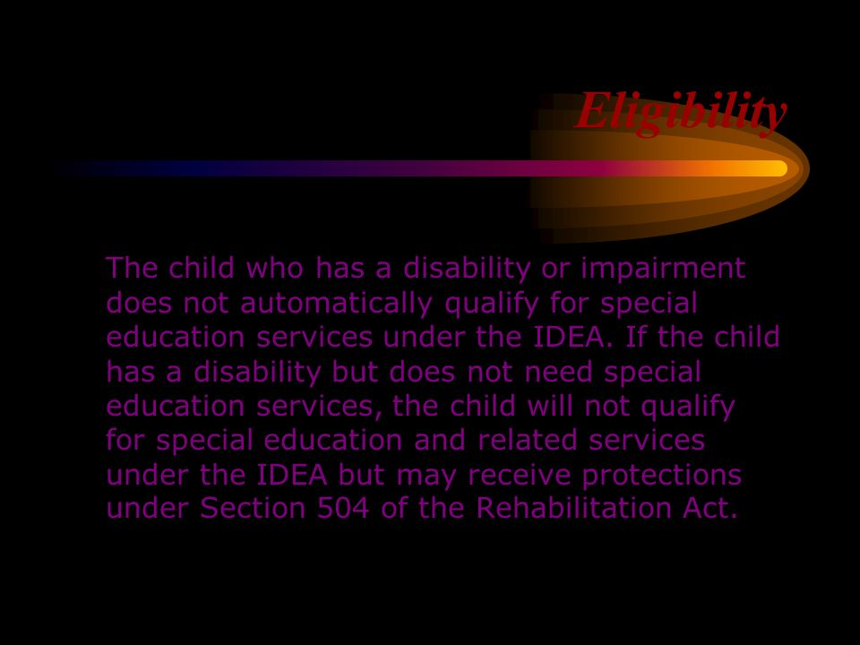 What are the purposes of the Individuals with Disabilities Act (IDEA)? If you read Section 1400, you learn that the purposes are -read Section 1400 (A