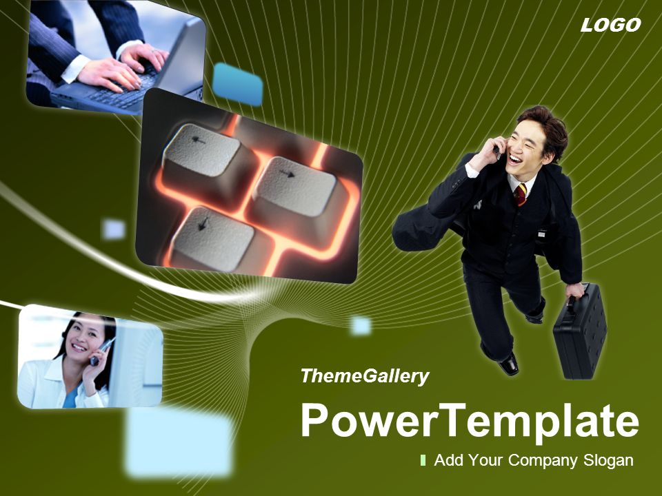 LOGO ThemeGallery PowerTemplate Add Your Company Slogan