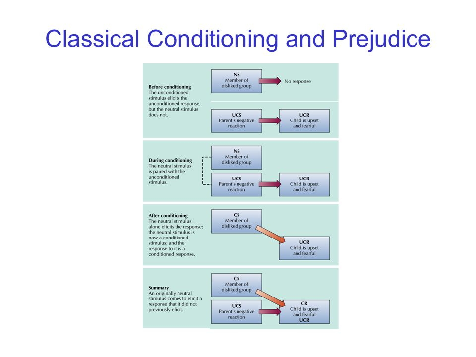 © 2004 John Wiley & Sons, Inc. Huffman: PSYCHOLOGY IN ACTION, 7E Classical Conditioning and Prejudice