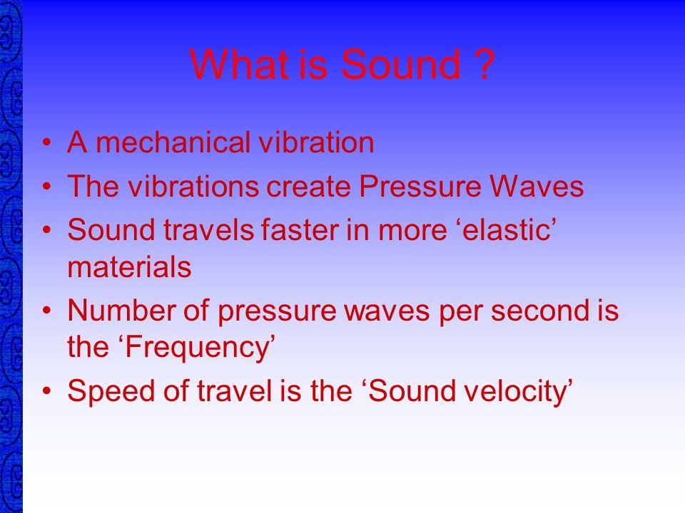 Ultrasonic Testing Principles of Sound