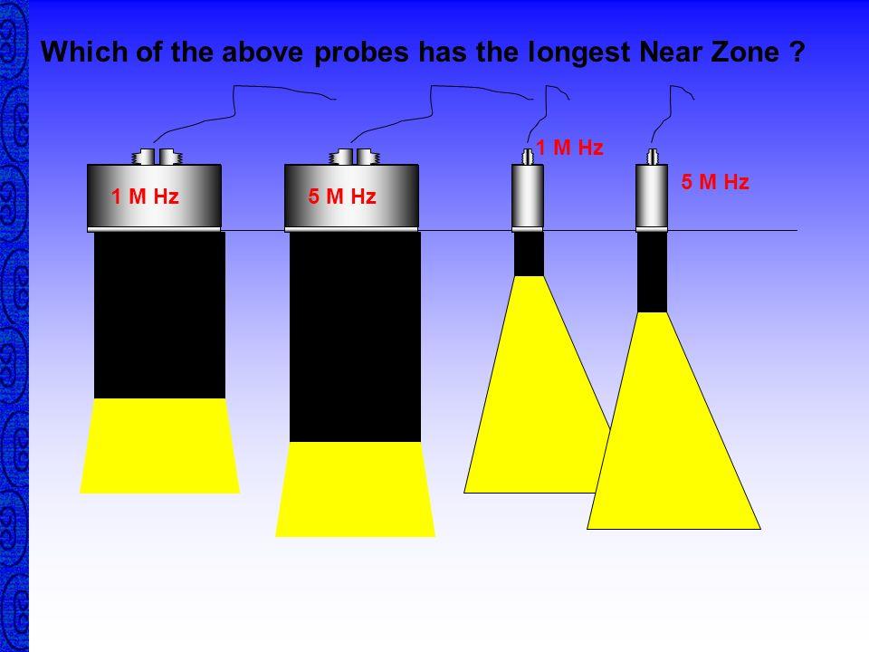 Near Zone The bigger the diameter the bigger the near zone The higher the frequency the bigger the near zone The lower the velocity the bigger the nea