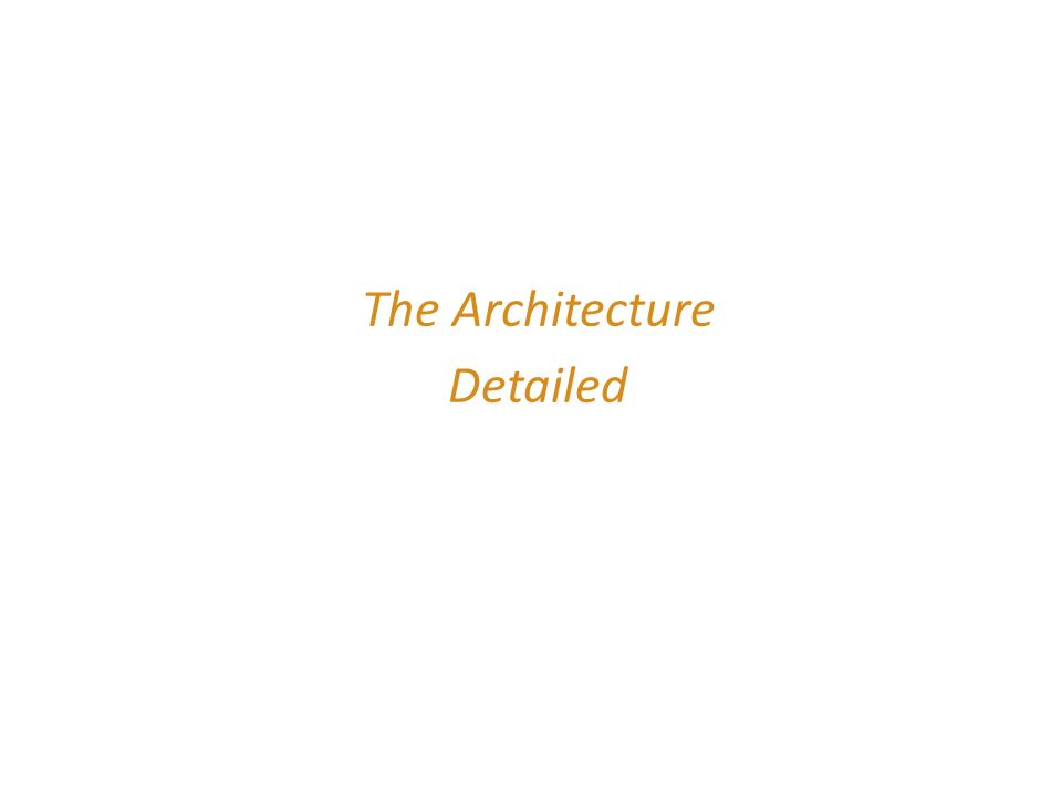 The Architecture Detailed