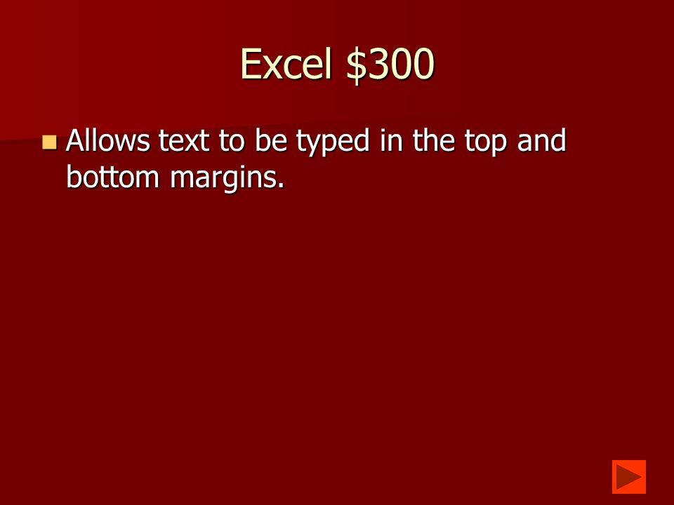 Excel $200 What is Landscape? What is Landscape?