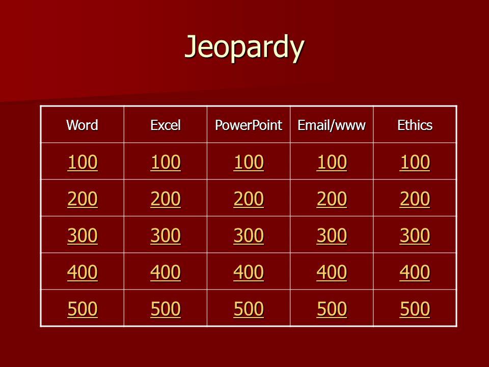 Jeopardy By Alesha LeMmon & Gordon Reeve © July 2007