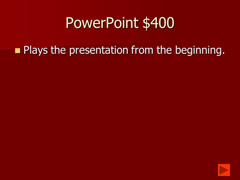 PowerPoint $300 What is slide transition? What is slide transition?