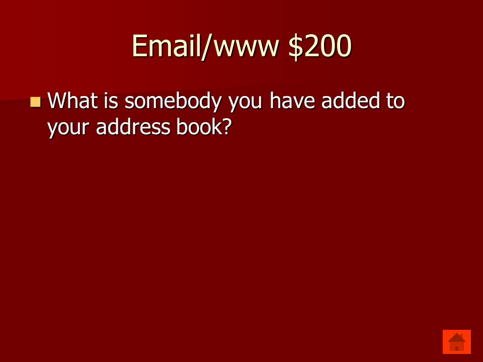 Email/www $200 Contact Contact