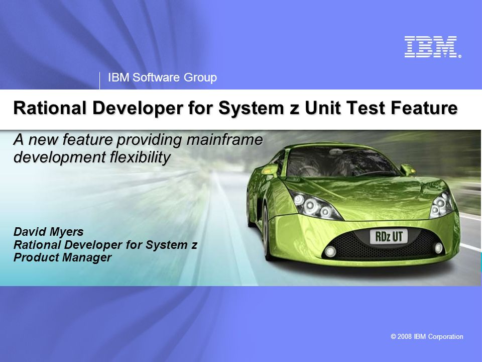 IBM Software Group   Rational software 2 Business constraints with mainframe development today Which limits the amount of System z production workload coming online My development capacity charge-back is consuming my entire budget.