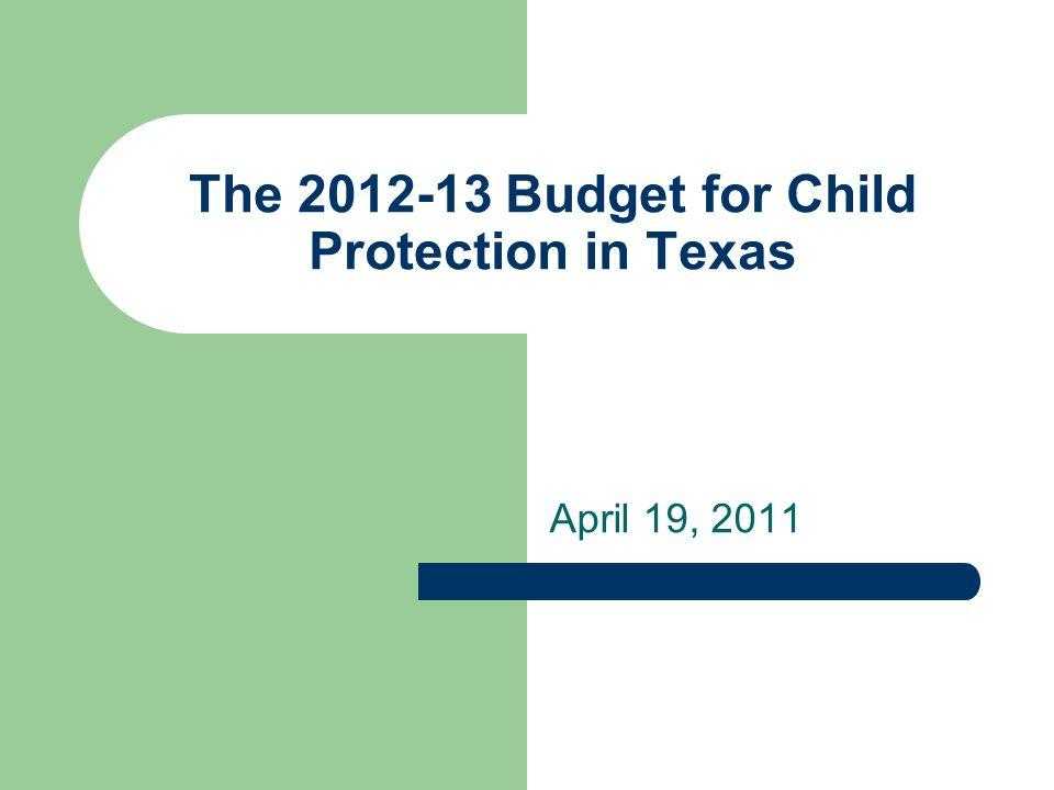 Child Abuse Prevention Services: Texas vs.US average* *US Dept.
