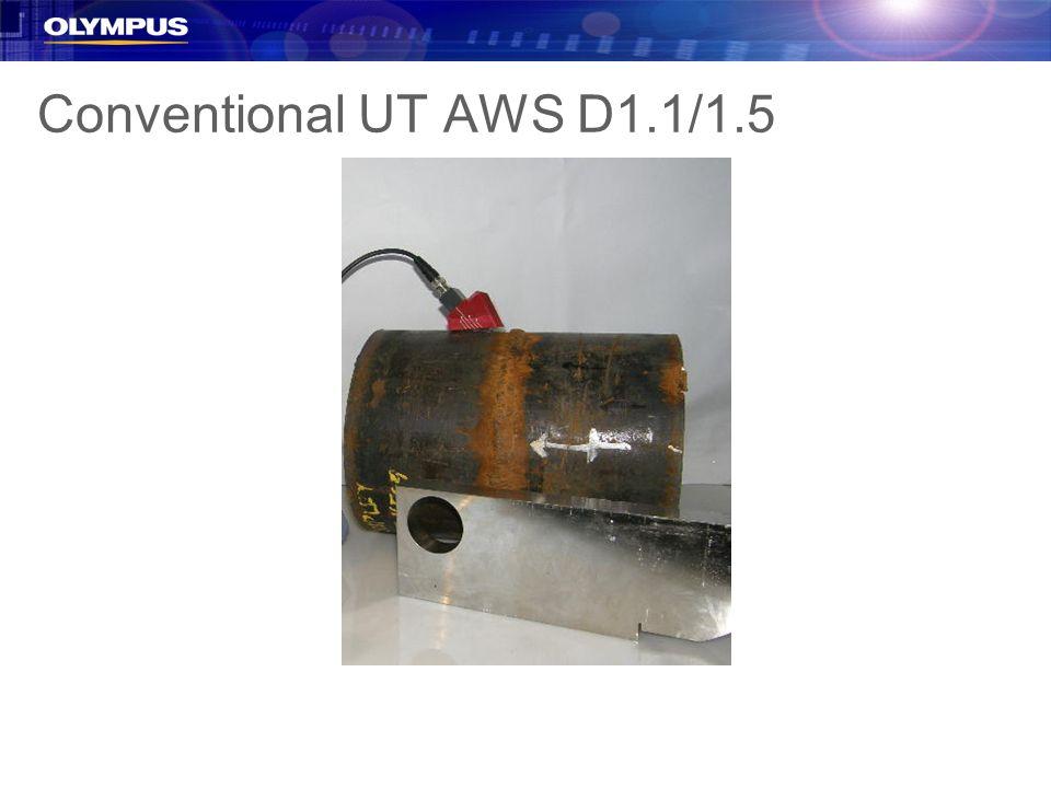 Conventional UT AWS D1.1/1.5