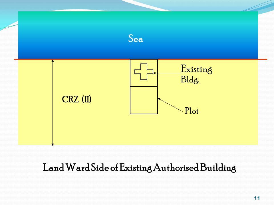 10 Landward Side of Road Existing Road C.R.Z (II) 500 M Sea High tide Line 500M Control Line Plot