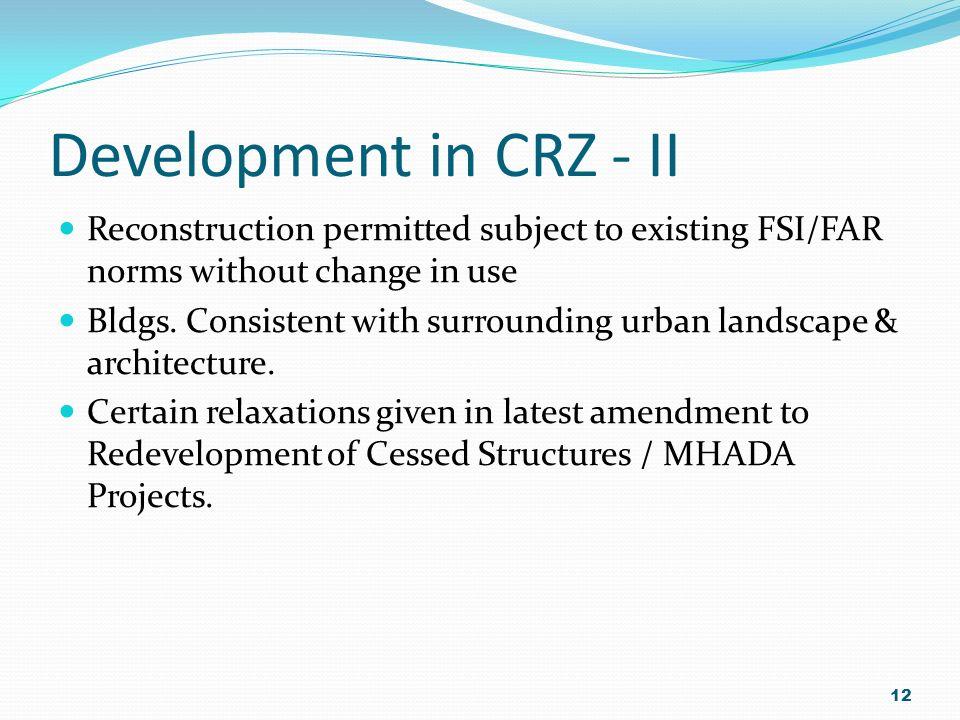 11 Plot Existing Bldg. Sea CRZ (II) Land Ward Side of Existing Authorised Building