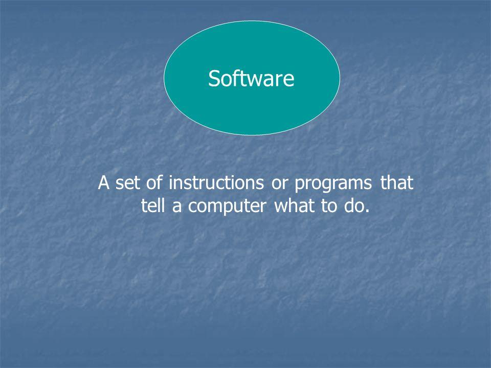 Software Operating System or Platform Applications or Programs