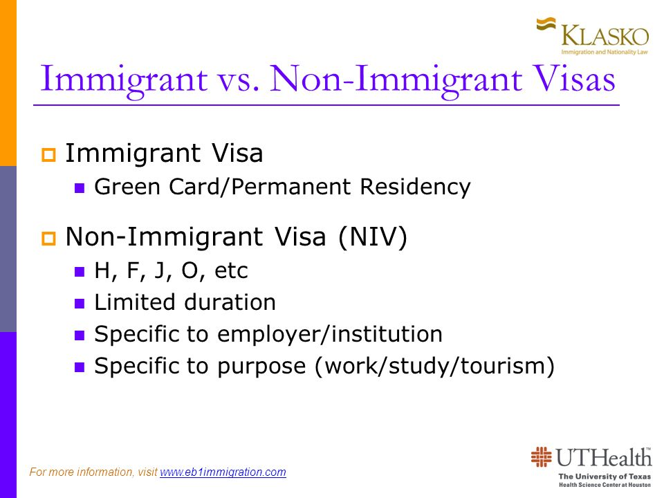 Immigrant vs.