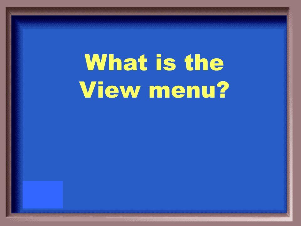 Master is found under this menu item.