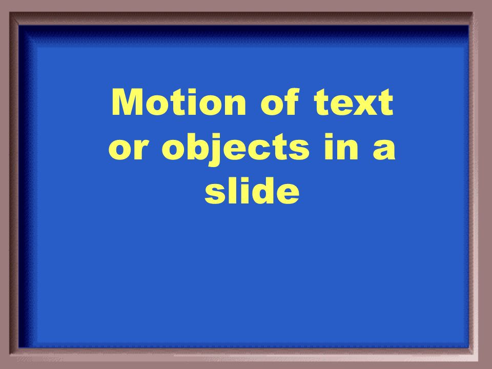 What is slide transitions