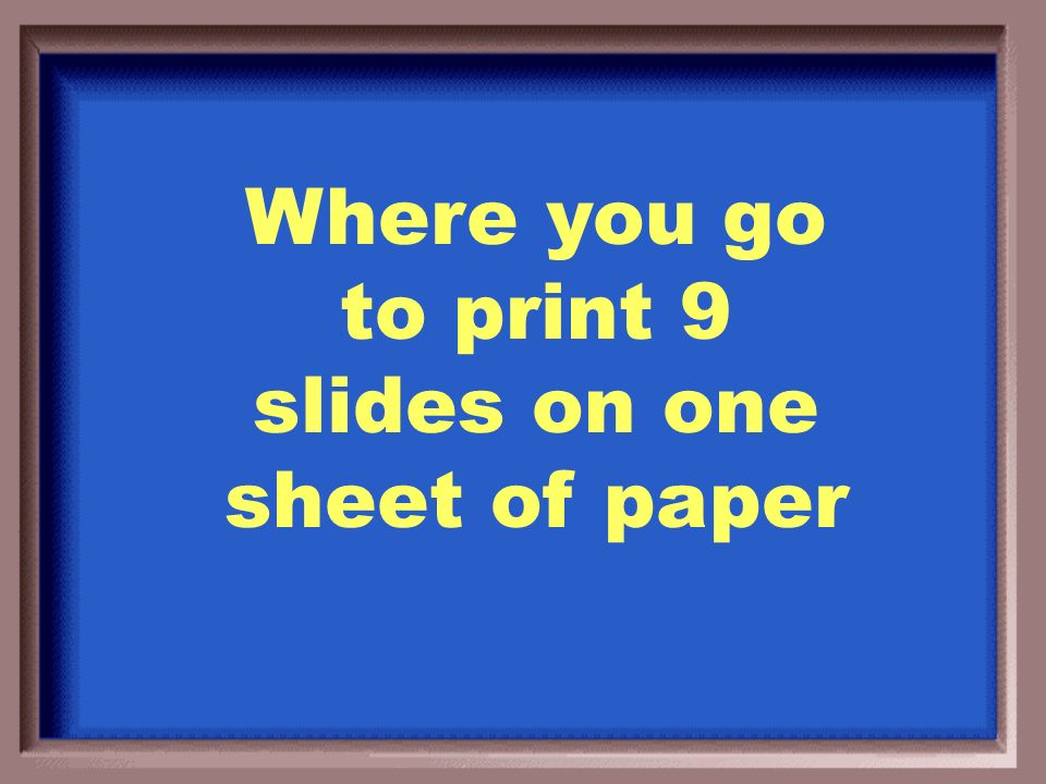 What is the slide sorter?