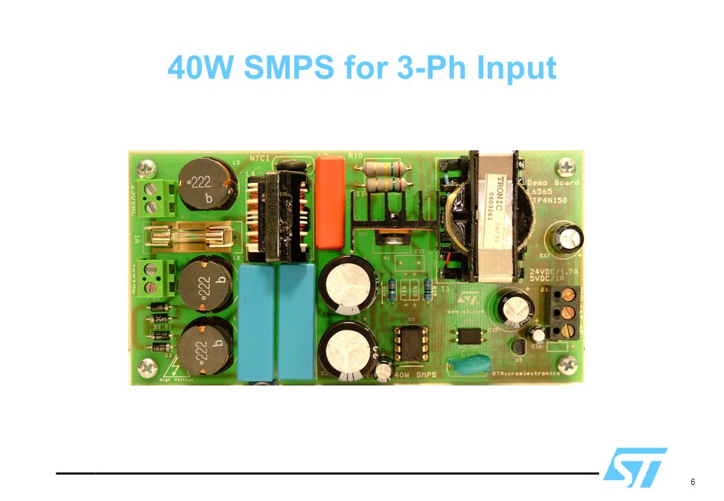 6 40W SMPS for 3-Ph Input