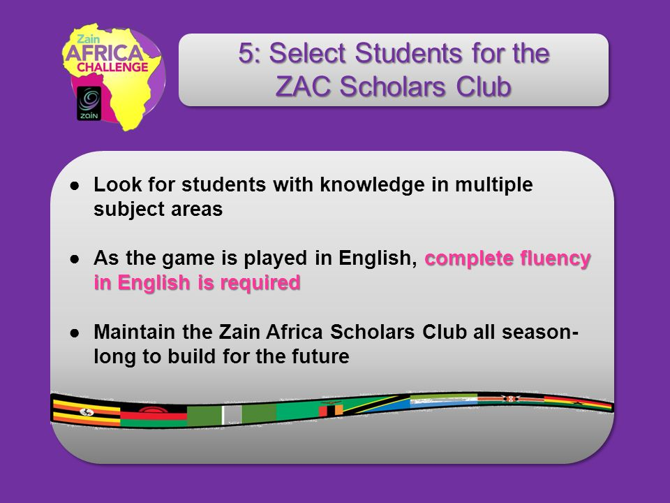 Look for students with knowledge in multiple subject areas complete fluency in English is requiredAs the game is played in English, complete fluency i