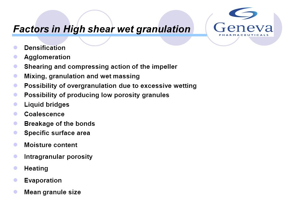 Introduction Wet granulation is used to improve...