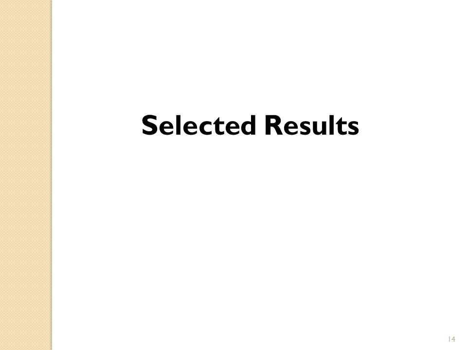 Selected Results 14