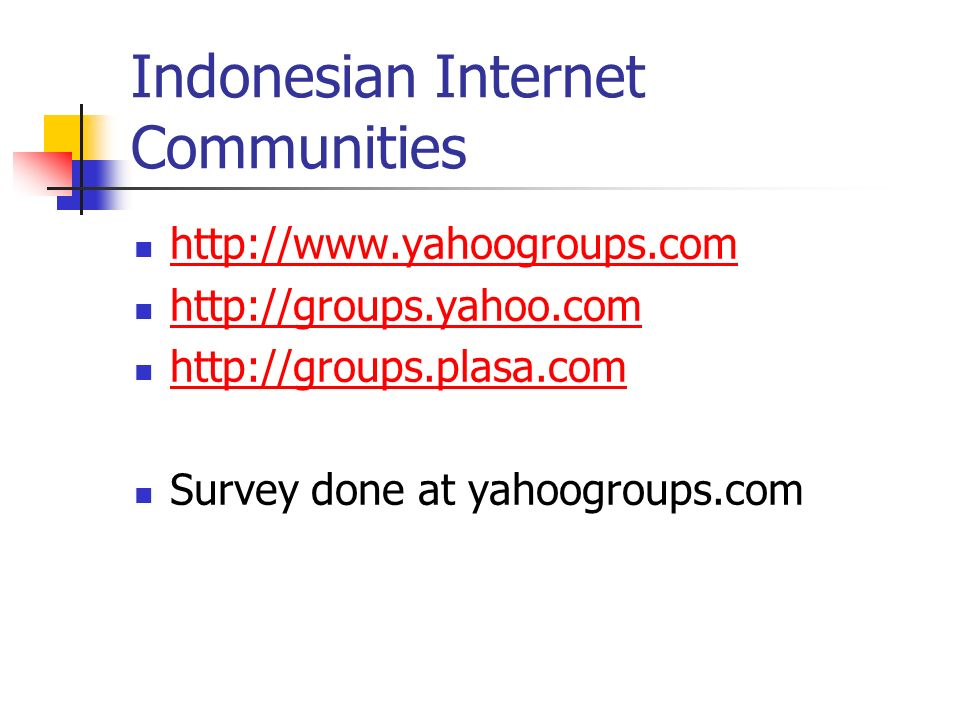 Access Behavior Search engine & webmail are the the most accessed site. News & online media are next. Indonesian pornographic site is next in the row