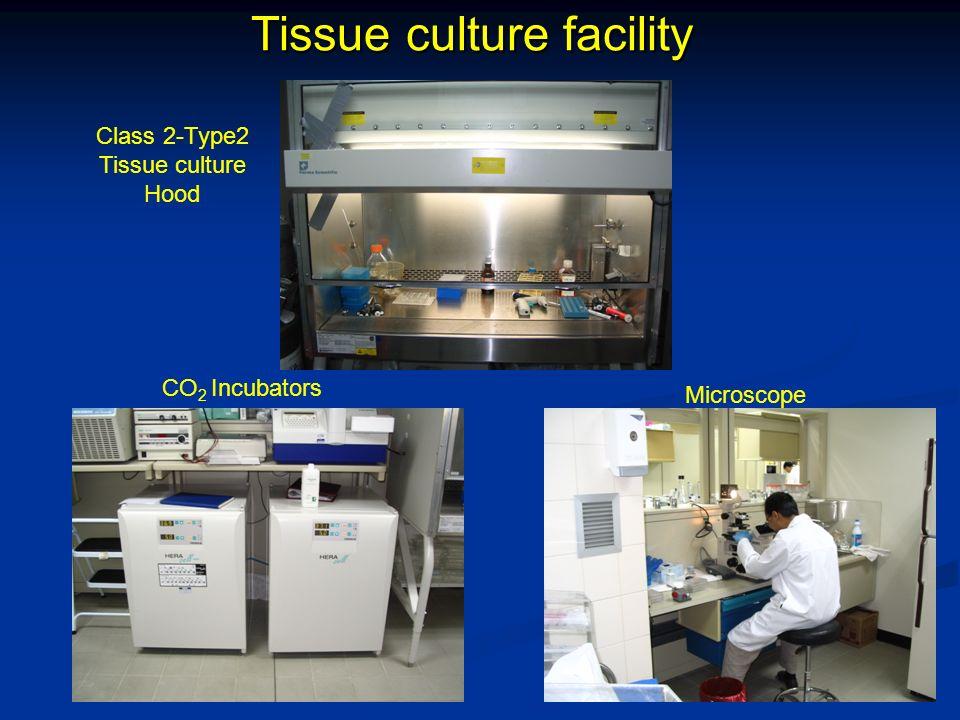 Tissue culture facility Microscope Class 2-Type2 Tissue culture Hood CO 2 Incubators
