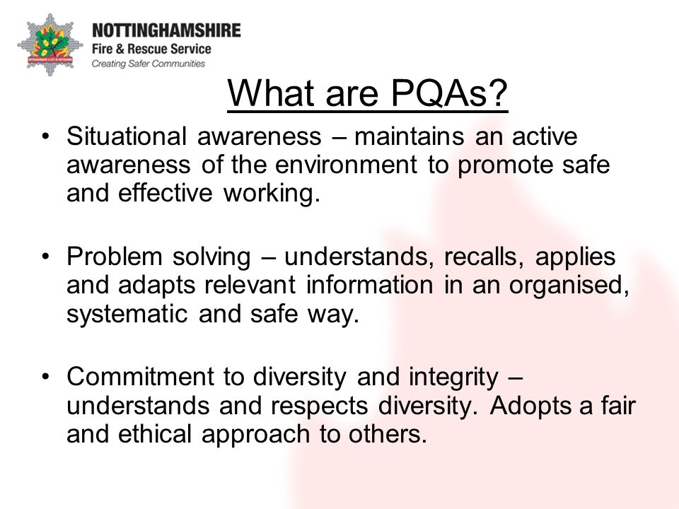 What are PQAs.