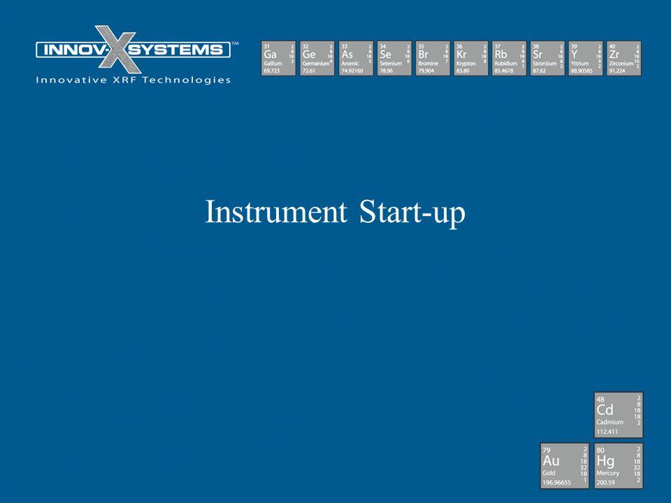 Instrument Start-up