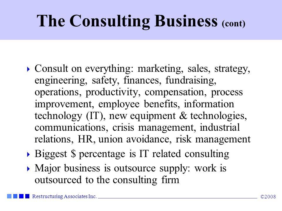 Restructuring Associates Inc.©2008 The Major Firms AccentureMcKinsey NavigantBain HewittA.T.