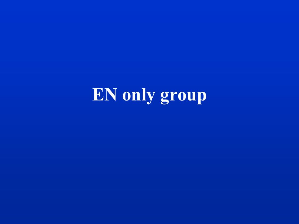 EN only group