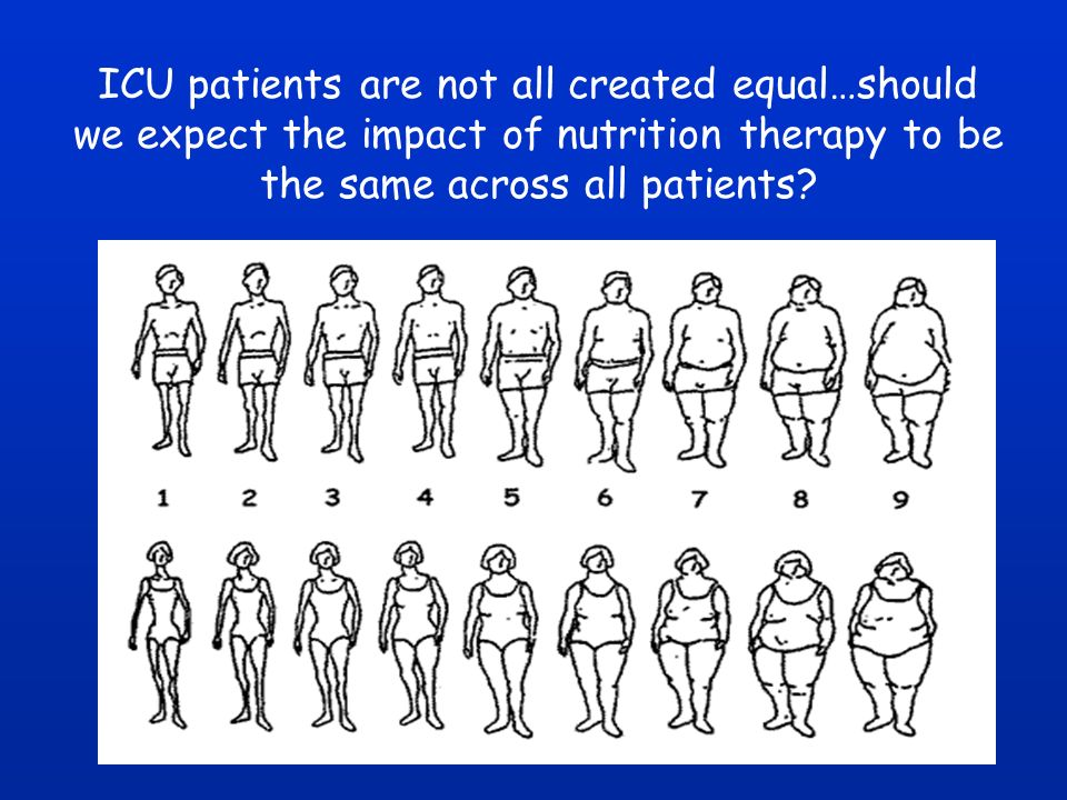 ICU patients are not all created equal…should we expect the impact of nutrition therapy to be the same across all patients?