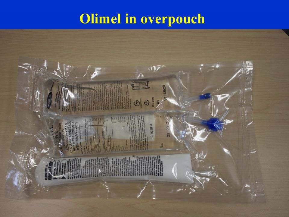 Olimel in overpouch